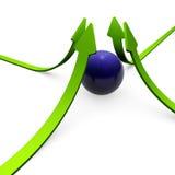 réussite verte de flèches Image stock