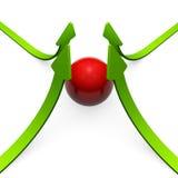 réussite verte de flèches Photo stock