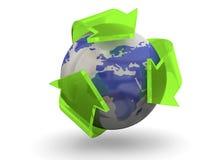 Réutilisant le concept du monde - 3D Photo stock