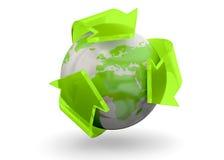 Réutilisant le concept du monde - 3D Photos stock