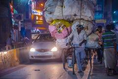 Réutilisation dans l'Inde de Varanasi Image libre de droits