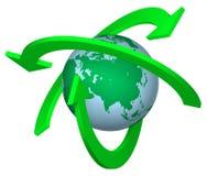 Réutilisation de la terre Images stock