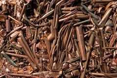 Réutilisation de mélangé de cuivre photographie stock libre de droits