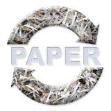 Réutilisation de papier Photographie stock libre de droits