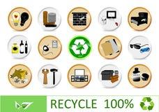 Réutilisation des graphismes d'eco illustration stock