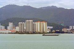 Réutilisation des terrains devant George Town, Penang, Malaisie images stock
