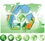 Réutilisation du monde. Image stock