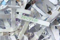 Réutilisation du papier Image libre de droits