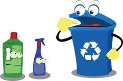Réutilisation du plastique Image libre de droits