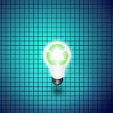 Réutilisez l'ampoule d'idée Photographie stock libre de droits