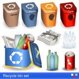 Réutilisez l'ensemble de poubelle Photographie stock