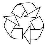 Réutilisez l'icône de signe, style d'ensemble illustration stock