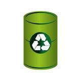 Réutilisez l'icône de symbole d'écologie de poubelle Photo stock