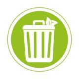 Réutilisez l'icône de symbole d'écologie de poubelle Photographie stock libre de droits