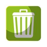 Réutilisez l'icône de symbole d'écologie de poubelle Images stock