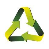 Réutilisez l'image d'icône de flèches Photographie stock libre de droits