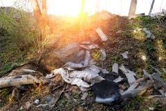 Réutilisez la formation propre d'ordures de déchets de déchets d'ordure de rebut de déchets photographie stock libre de droits