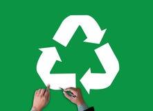 Réutilisez le bio ecosyst vert d'harmonie d'environnement d'économie de forêt d'eco Images stock