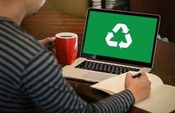 Réutilisez le bio ecosyste vert d'harmonie d'environnement d'économie de forêt d'eco Image libre de droits