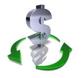 Réutilisez le dollar Images libres de droits