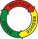 Réutilisez le logo Photographie stock libre de droits