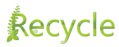 Réutilisez le logo (protégez l'environnement) Photos libres de droits