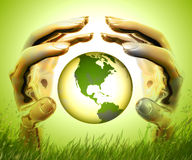 Réutilisez le monde illustration stock
