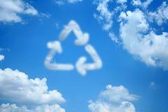 Réutilisez le nuage Image stock