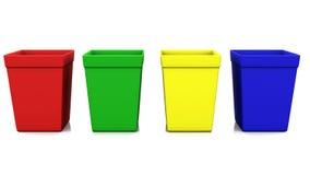 Réutilisez le rendu de la couleur 3d de la poubelle quatre illustration libre de droits