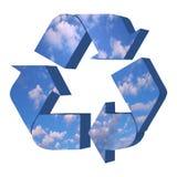 Réutilisez le symbole avec la texture de ciel Image stock
