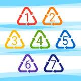 Réutilisez le symbole Logo Set Web Icon Images libres de droits