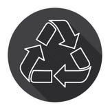Réutilisez le symbole Logo Web Icon Photos stock