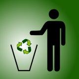Réutilisez le vert de détritus Photographie stock