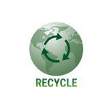 Réutilisez le vert Logo Web Icon de symbole de globe de la terre Images stock