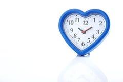 Réveil bleu de coeur Photos stock