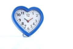 Réveil bleu de coeur Image stock