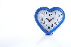 Réveil bleu de coeur Image libre de droits