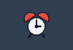 Réveil d'icône de temps illustration de vecteur