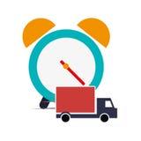 Réveil et truck van icon Photos libres de droits