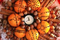 Réveillon de Noël et années neuves à minuit Images stock