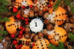 Réveillon de Noël et années neuves à minuit Photo stock