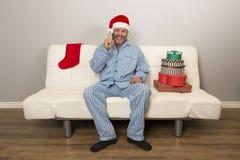 Réveillon de Noël et excitation pour tous images stock