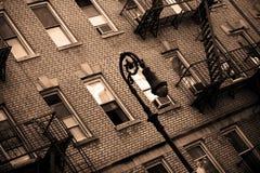 Réverbère à New York Photographie stock libre de droits