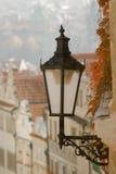 Réverbère à Prague, République Tchèque Photos libres de droits