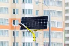 Réverbère actionné par les batteries solaires Images libres de droits