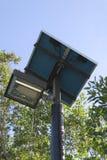 Réverbère actionné solaire Photo libre de droits