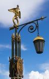 Réverbère antique dans le St Petersbourg Photographie stock libre de droits