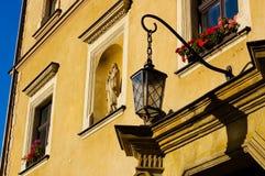 Réverbère antique de la Pologne Images libres de droits