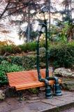 Réverbère dans l'amour en parc du ` s de Valentino, Turin Italie Images stock