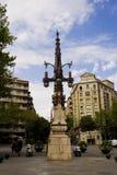 Réverbère de Barcelone Photos libres de droits
